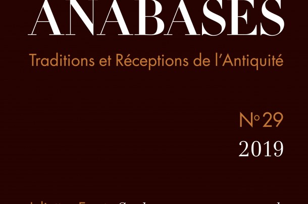 Couverture Anabases n°29 (2019)